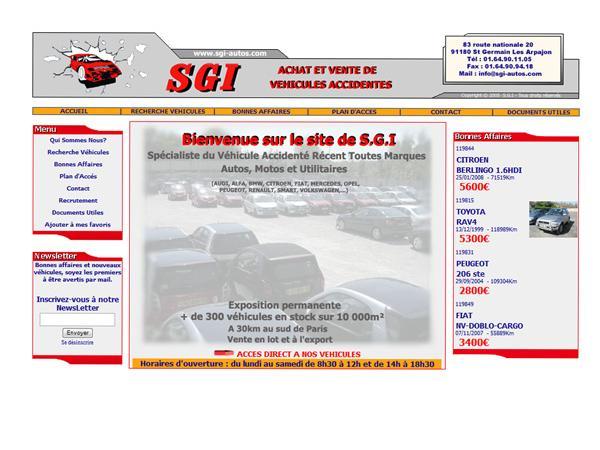 SGI Auto - véhicules accidentés