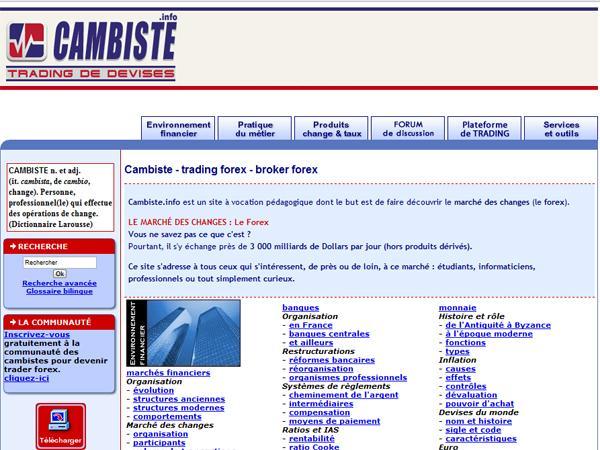 Cambiste Info