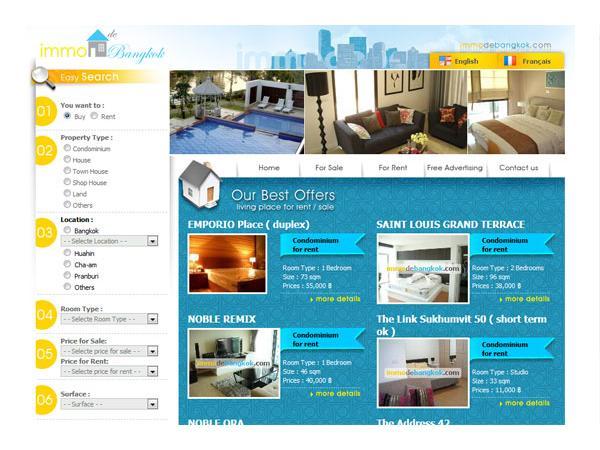 Agence Immobiliere de Bangkok et Hua Hin THAILANDE