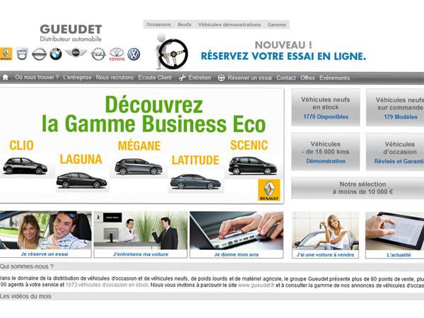 Gueudet, ventes de voitures neuves et occasions
