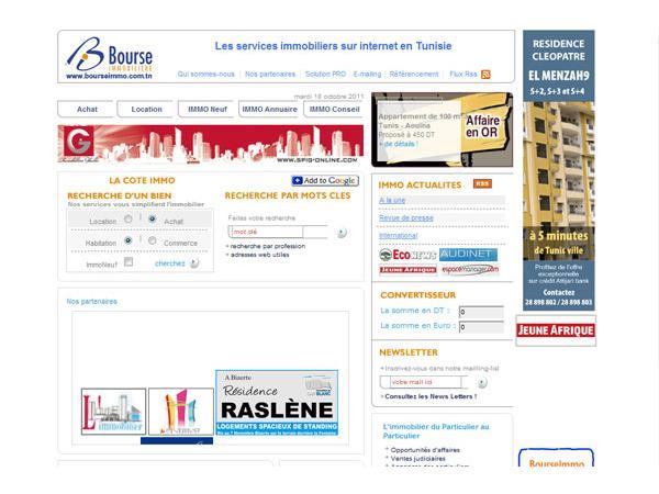 Bourse immobiliere de Tunisie
