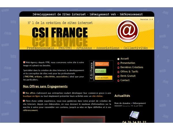 CSI France Création  de Sites Internet