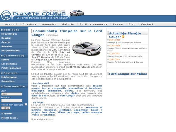 Planète Cougar : Le portail dédié à la Ford Cougar