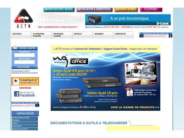 ACTN grossiste importateur informatique réseaux communications securité