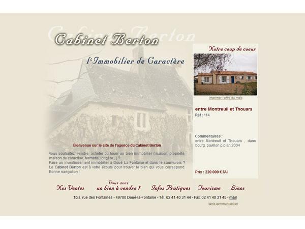 Cabinet Berton, agence immobilière à Doué-la-Fontaine