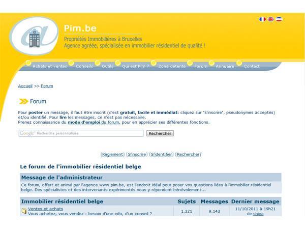 Forum de l'immobilier résidentiel belge