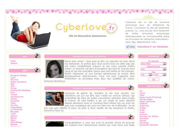 Rencontre amoureuse sur CyberLove.fr