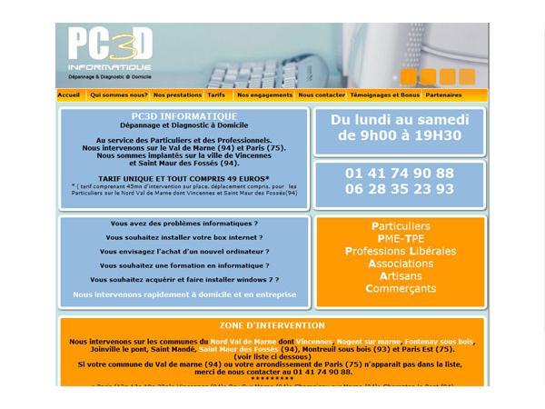 PC3D Informatique: spécialiste du dépannage de proximité