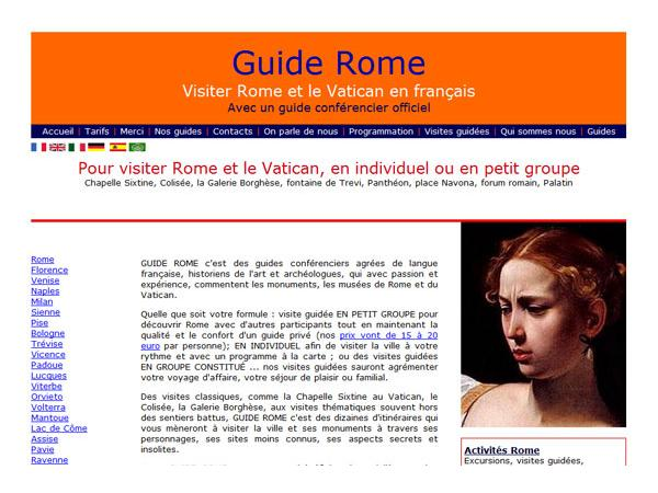 Guiderome, visitez avec un guide officiel