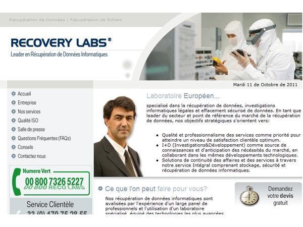 Récupération de données: Recovery Labs
