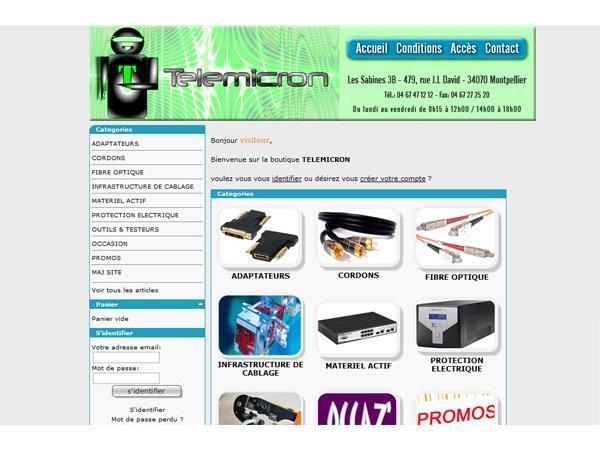 Telemicron - Cordons informatiques