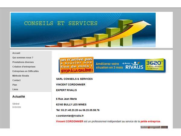 Vincent Cordonnier - conseils et services