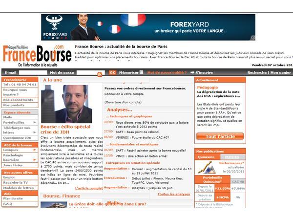 Actualité boursière - Information financière