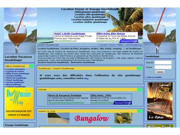 Location Guadeloupe - Sejour et voyage en Guadeloupe