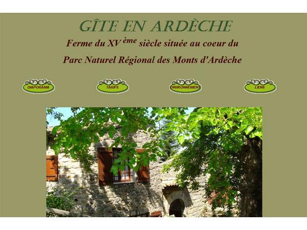 Gîte en Ardèche