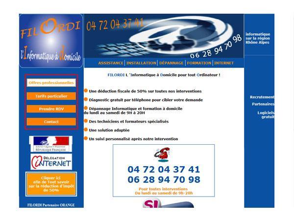 Dépannage Informatique Lyon et formations informatique FILORDI