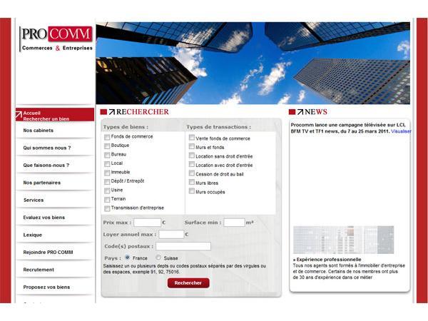 Pro Comm : Immobilier d'entreprise et de commerce