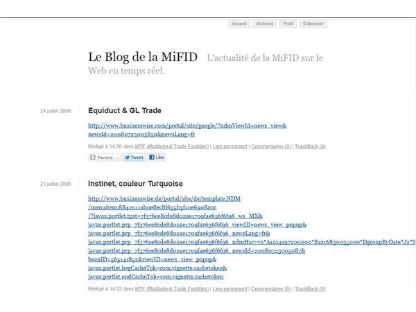 Le Blog de la MiFID