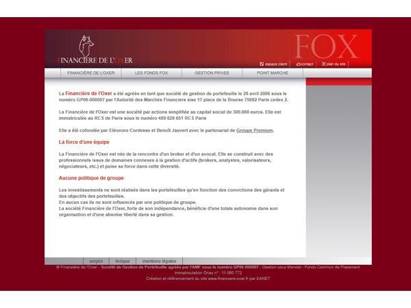 Financière de l'Oxer - société de gestion de portefeuille