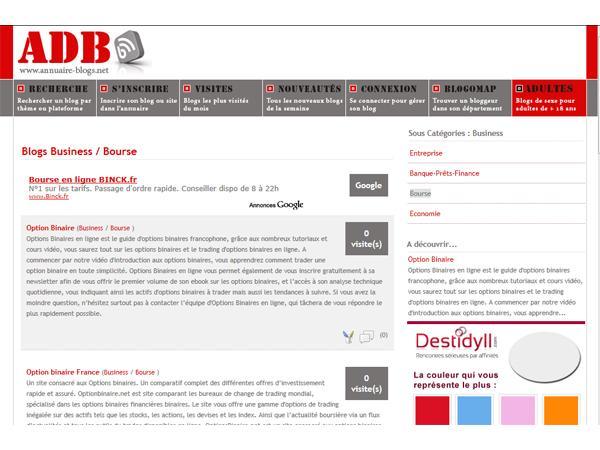 Annuaire de blogs de bourse