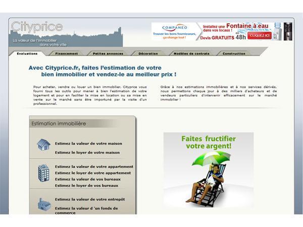 Cityprice.fr : evaluation gratuite de vos biens immobiliers
