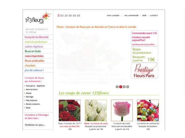 123 Fleurs - Livraison de fleurs