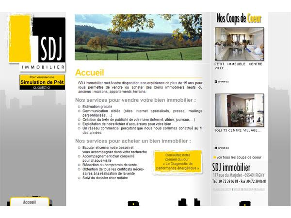 Agence SDJ immobilier Rhône alpes Sud ouest Lyon