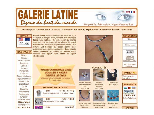 Galerie Latine - Bijoux latino