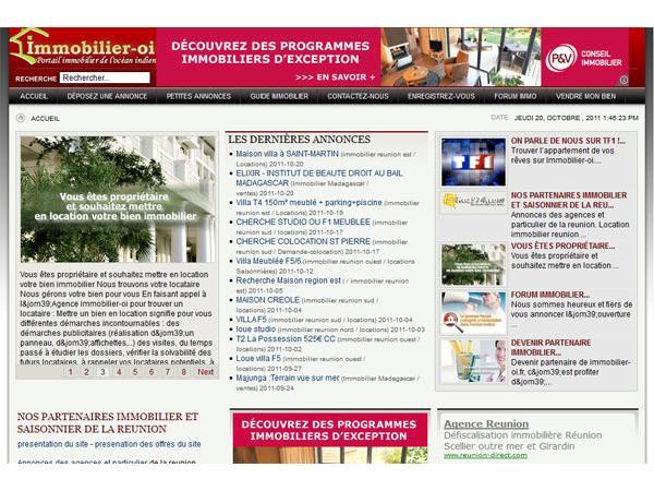 immobilier-oi.fr : l'immobilier sur Internet