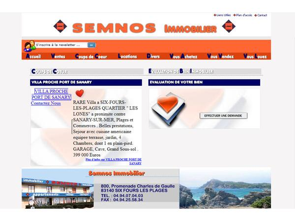 Semnos Immobilier :Agence immobilière.