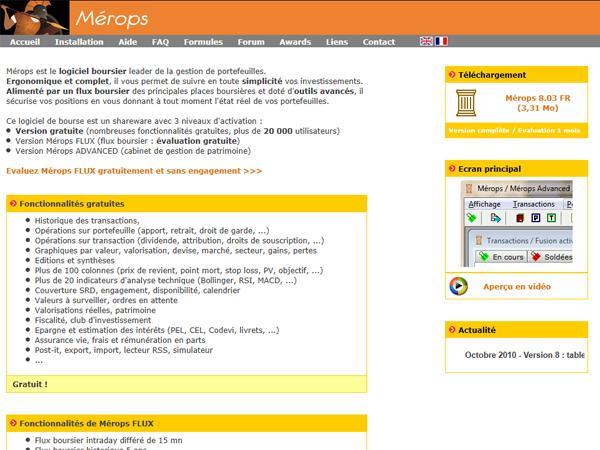 Mérops - Logiciel Boursier