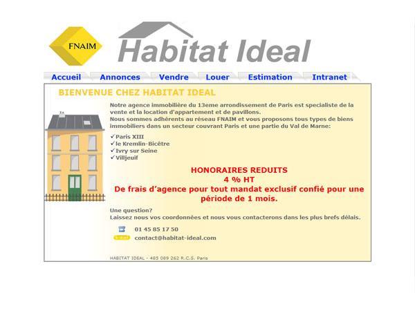 Habitat Ideal | Agence immobilière Paris 13 Annonces Achat Vente Location 75013