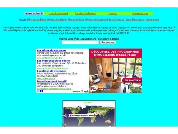 LOCATION APPARTEMENT A BEJAIA CAPRITOUR (ALGERIE)