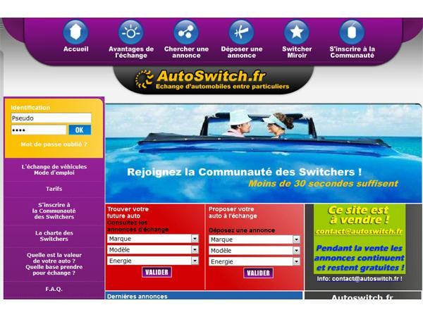 Autoswitch.fr - Le 1er site GRATUIT 100% Echange d'automobiles