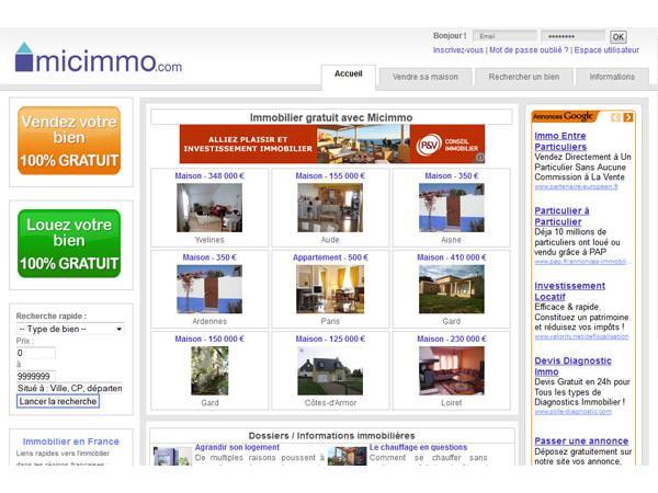 Petites annonces immobilières : MICIMMO publie vos petites annonces immobilières