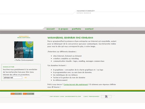 (( SACREECAROTTE[dot]COM )) Création de sites internet, webdesign