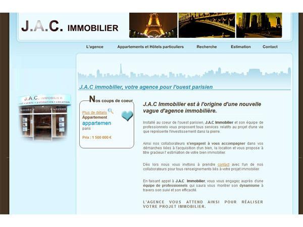 JacImmobilier, Agence immobilière ouest parisien