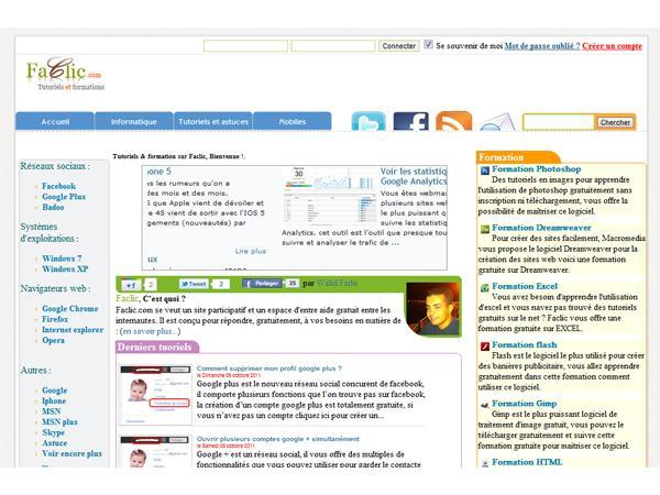 tutorials en image sur faclic.com