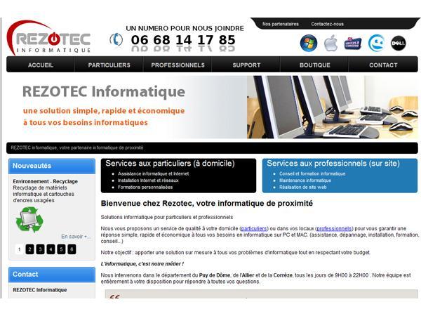 REZOTEC - Assistance Informatique et Internet à domicile