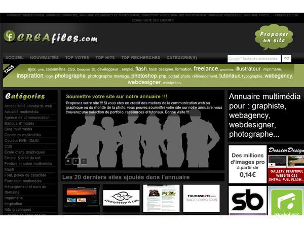 Annuaire webmaster, webdesigner, graphiste - Creafiles.com