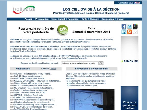 IsoBourse - Logiciel Boursier