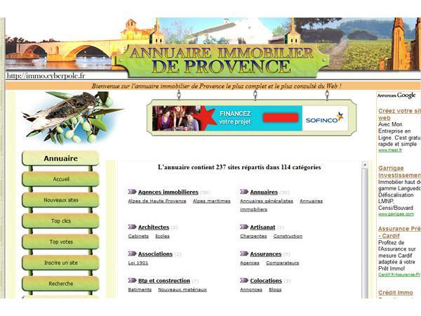 Annuaire immobilier de Provence
