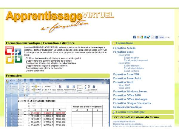 formation excel | apprentissage-virtuel