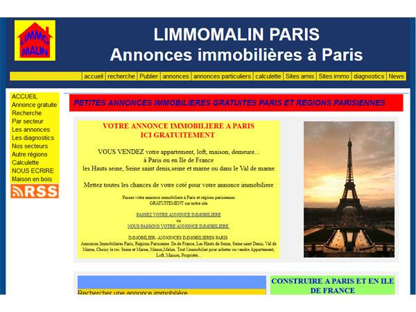 LIMMOMALINPARIS Annonces immobilières à PARIS et sa région