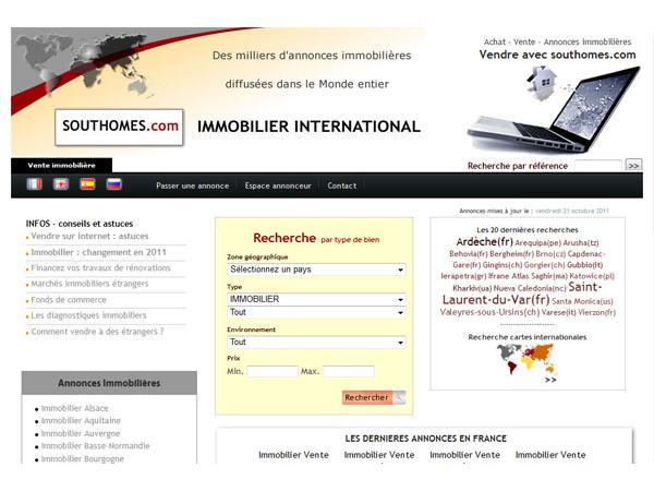 Southomes.com immobilier international 100% entre particuliers