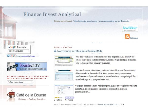 Finance invest analytical