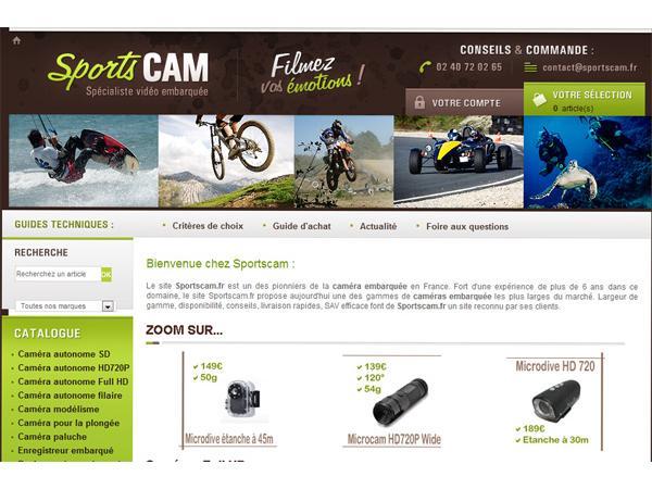 Sportscam - caméra miniature