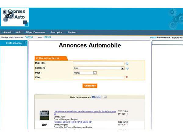 Express auto petites annonces achat et vente de voitures
