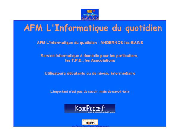 AFM L'Informatique du quotidien - ANDERNOS-les-BAINS