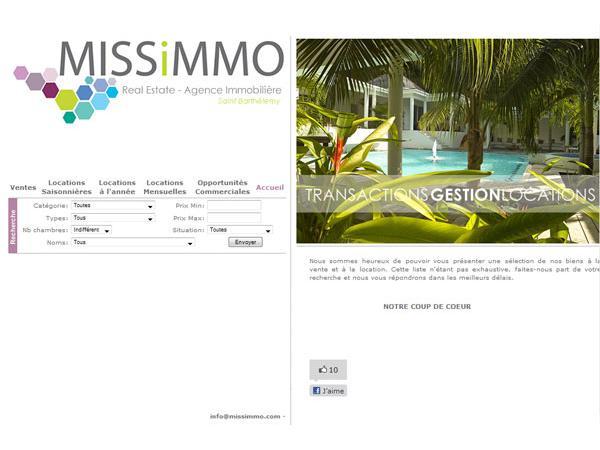 Missimmo, agence immobilière à Saint Barthélemy